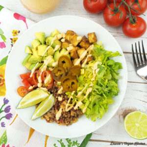 Quinoa and Tofu Burrito Bowl