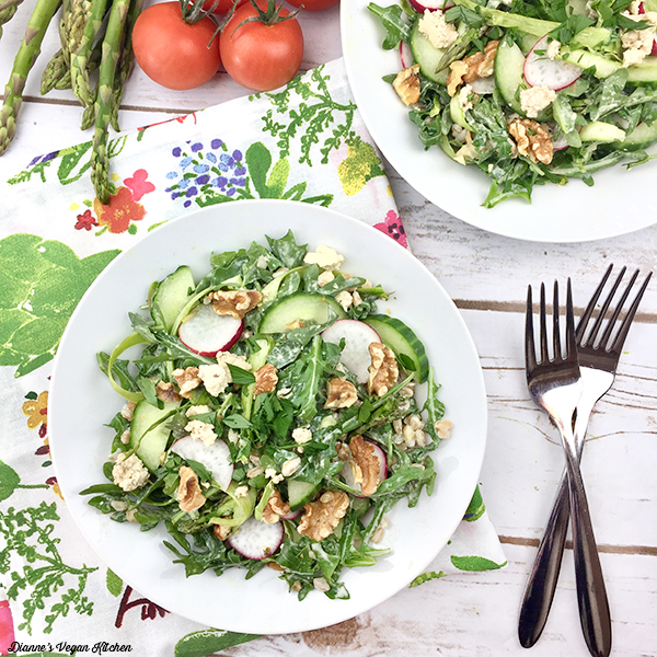 Asparagus and Arugula Farro Salad