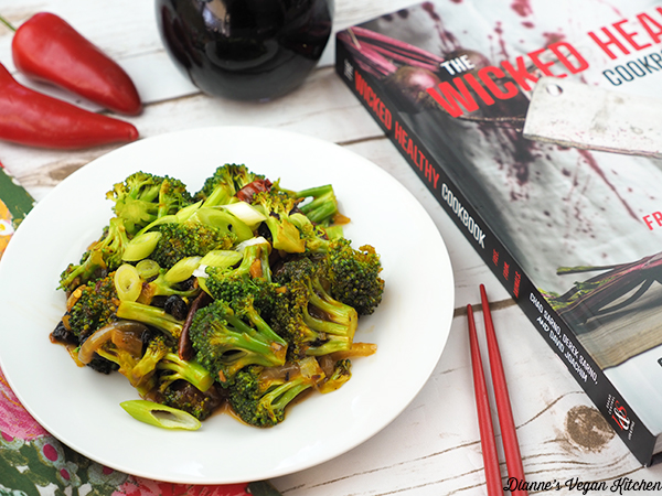 Broccoli with Fermented Black Bean Sauce with The Wicked Healthy Cookbook