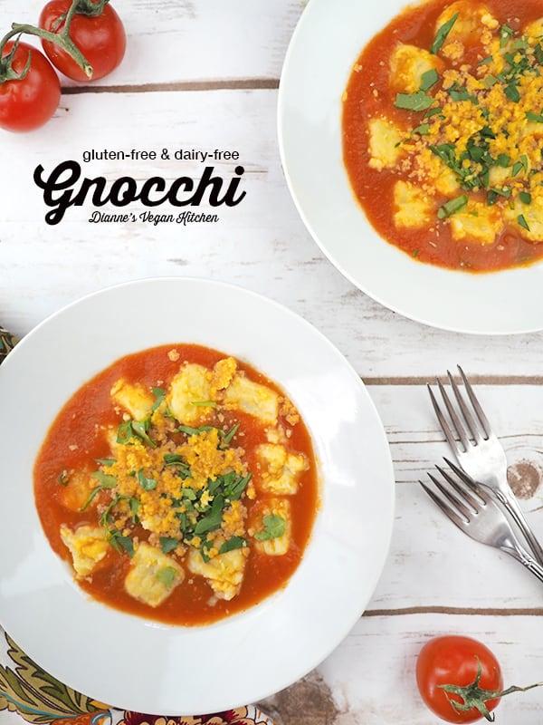 Gluten-Free & Dairy-Free Gnocchi from The Plantpower Way by Julie Piatt and Rich Roll (vegan) >> Dianne's Vegan Kitchen