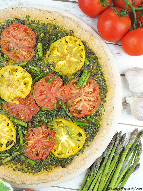 Grilled Pesto Tart from VBQ: The Ultimate Vegan Barbecue Cookbook vertical