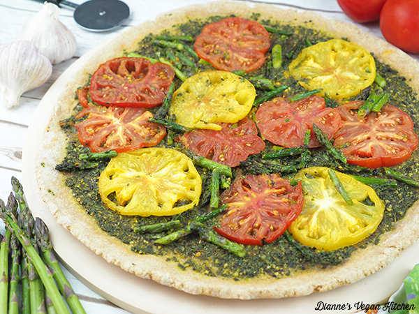 Grilled Pesto Tart horizontal