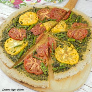 Grilled Pesto Tart from VBQ: The Ultimate Vegan Barbecue Cookbook square