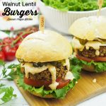 Lentil Burgers with text overlay