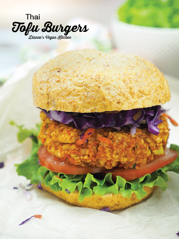 Thai Tofu Burgers from From the Kitchens YamChops by Michael Abramson