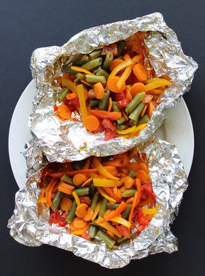 Foil Wrapped Grilled Vegetables from Vegan in the Freezer