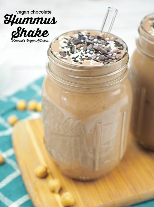Vegan Chocolate Hummus Shake (dairy-free, gluten-free, nut-free)