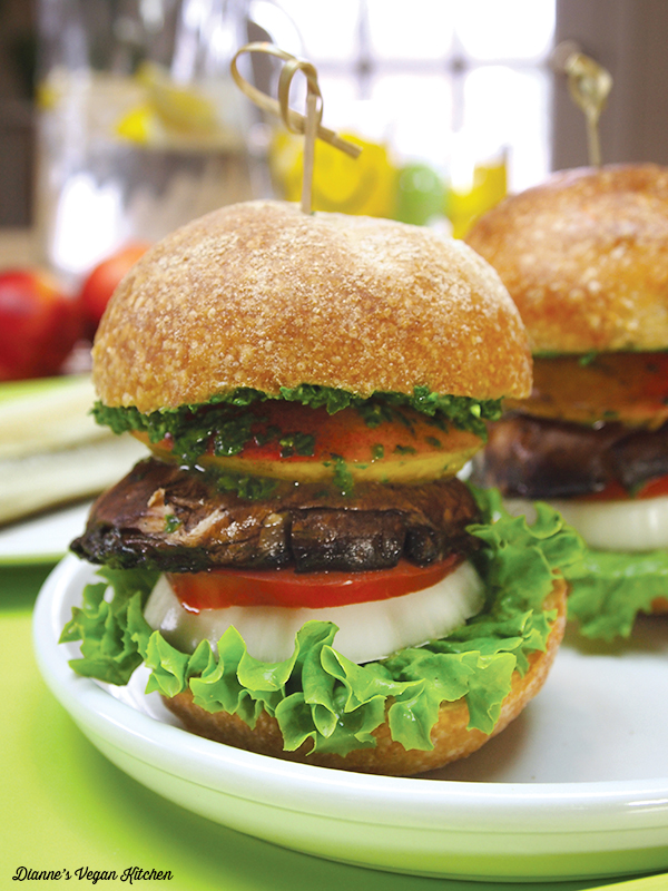 Grilled Portobello Peach Sandwich