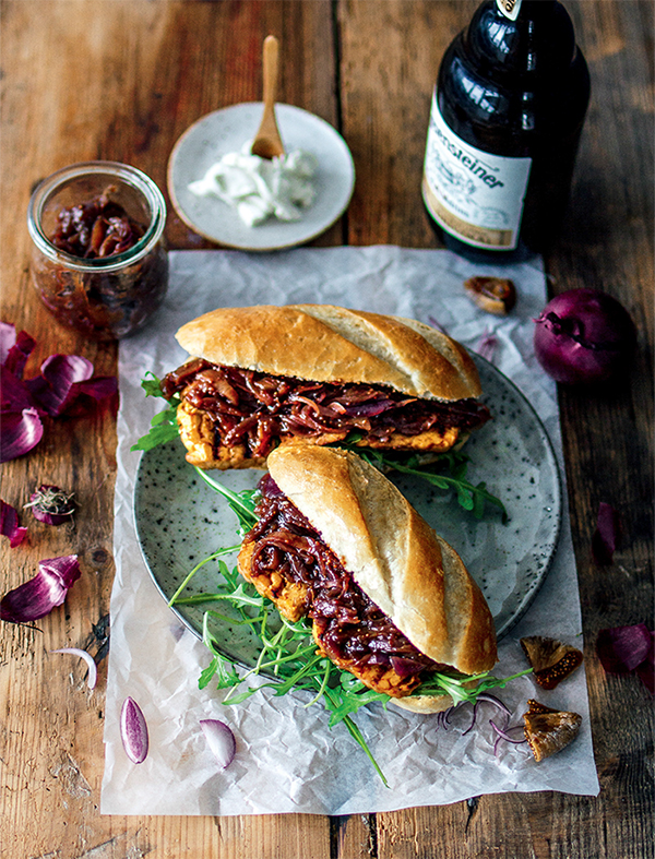 BBQ Tempeh Sandwiches from VBQ: The Ultimate Vegan Barbecue Cookbook by Nadine Horn and Jörg Mayer