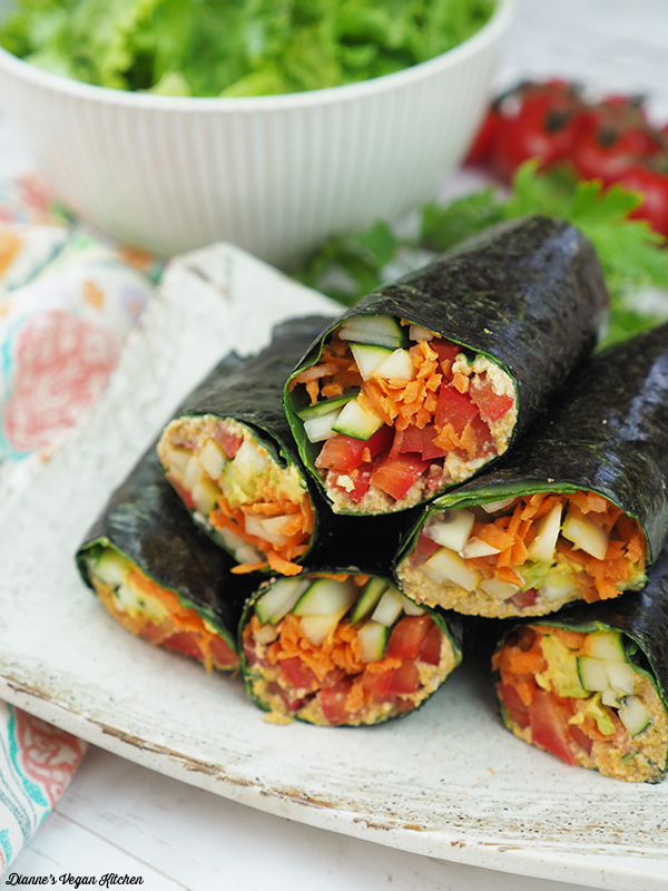 Vegan Sushi Wraps vertical