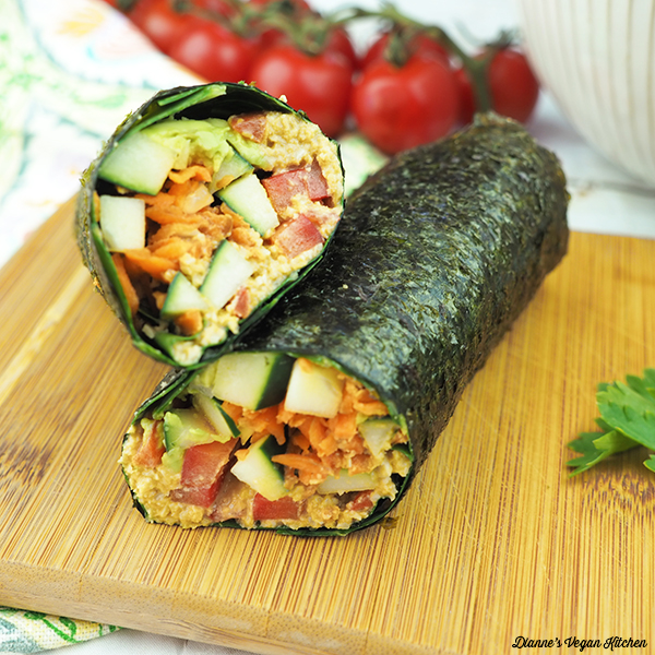 Vegan Sushi Wraps square