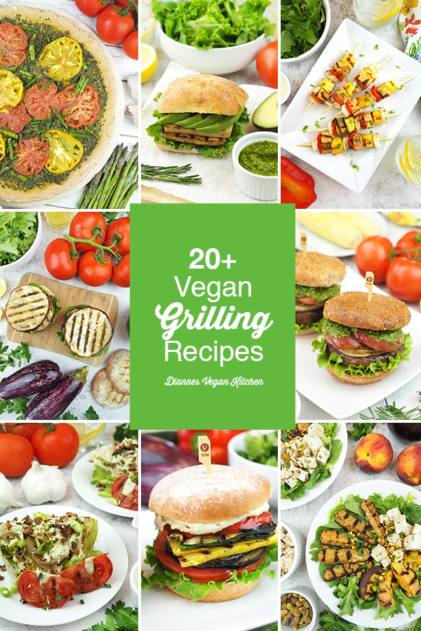 vegan grilling recipes collage