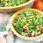Tahini Kale Salad with Garlicky Chickpeas