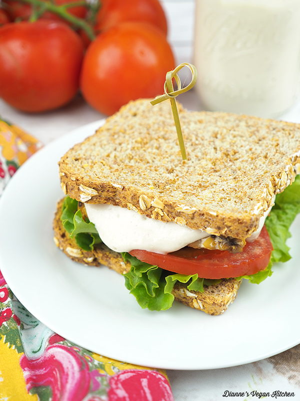 Vegan Mayonnaise sandwich