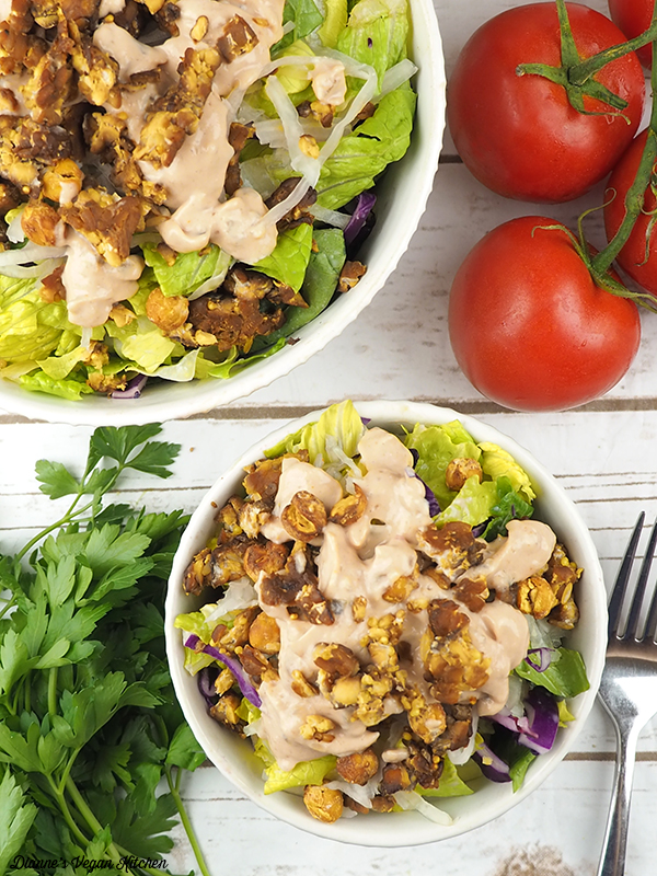 Reuben Salad from above with tomatoes