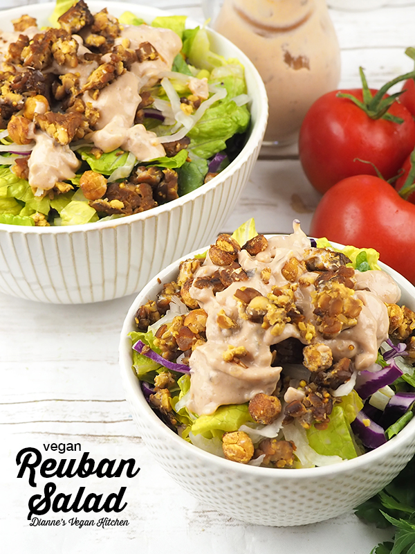 Vegan Reuben Salad (dairy-free and gluten-free) >> Dianne's Vegan Kitchen