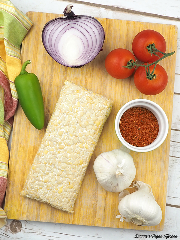 Vegan Tempeh Tacos Ingredients