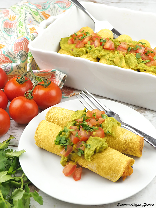Sweet Potato & Black Bean Baked Taquitos