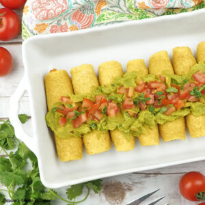 Sweet Potato & Black Bean Baked Taquitos from Go Dairy Free by Alisa Fleming