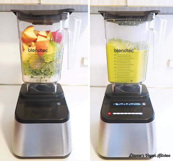 blending smoothie in blender