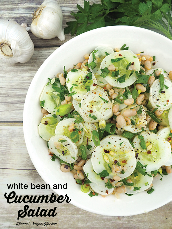 White Bean and Cucumber Salad (vegan & gluten-free)