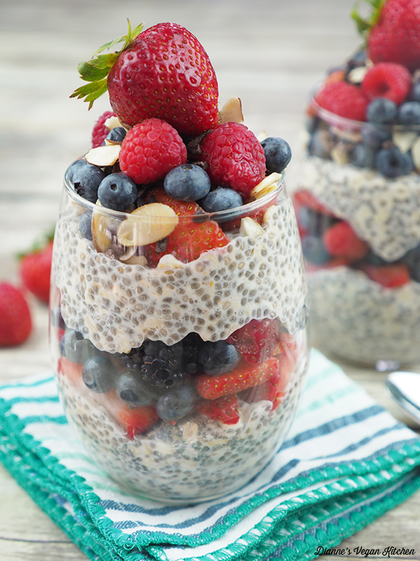 close up of overnight oats
