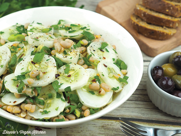 White Bean and Cucumber Salad
