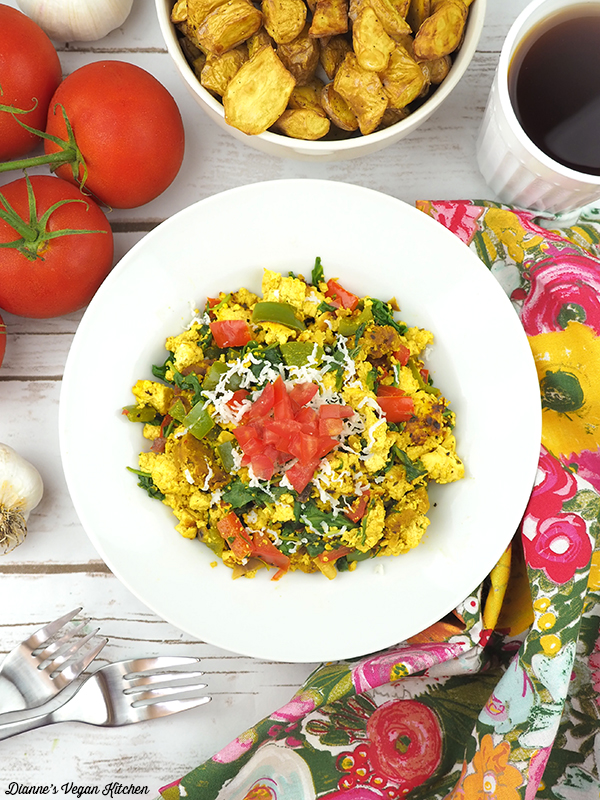 The Vegan Roman Tofu Scramble