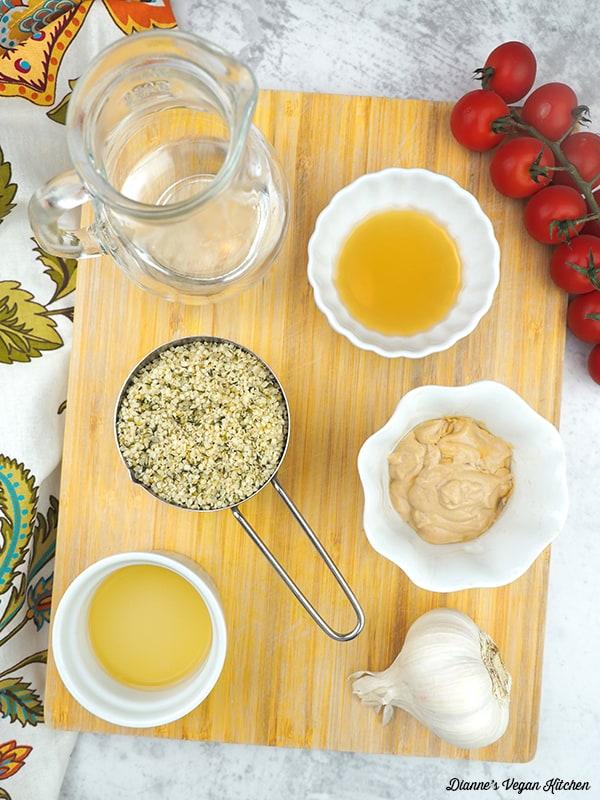 Maple Mustard Dressing ingredients