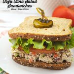 Pack your lunch box with Vegan Tofu Tuna Salad Sandwiches! They're great for the office or for school! #VeganLunch #Vegan #VeganSandwiches #VeganRecipe #Tofu