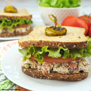 Vegan Tofu Tuna Salad Sandwiches
