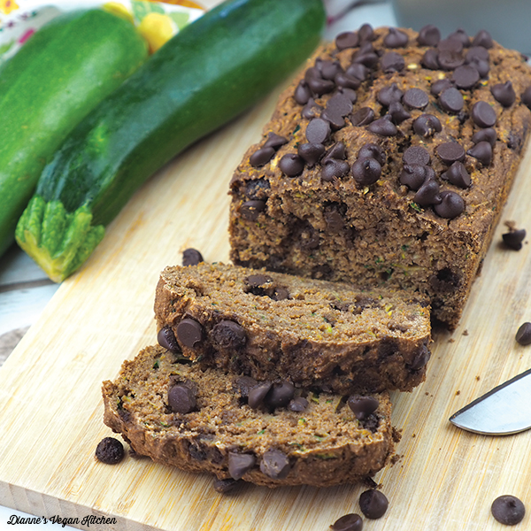 Vegan Chocolate Chip Zucchini Bread