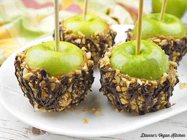 Date-Sweetened Vegan Caramel Apples