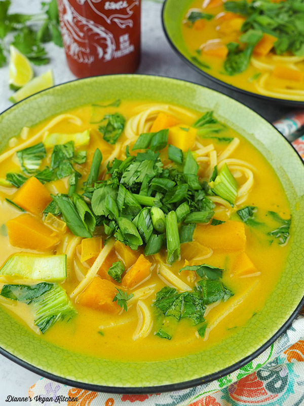 Coconut Curry Noodles and Butternut Squash from One-Dish Vegan