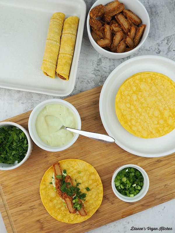Making Vegan Taquitos
