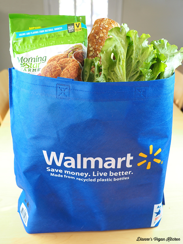 Walmart bag with shopping