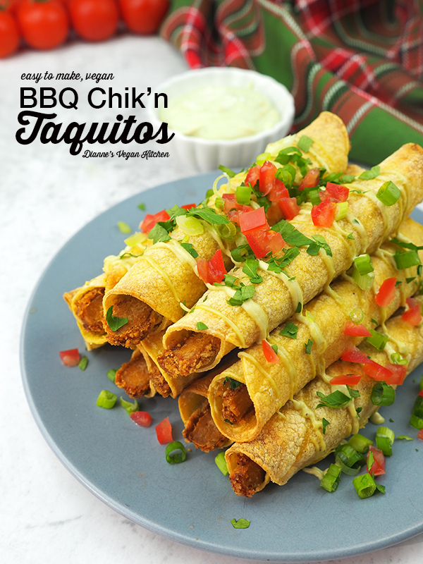 Vegan Taquitos are sure to be the star of your next party! They're easy to prepare, and they're the perfect appetizer for holiday entertaining.