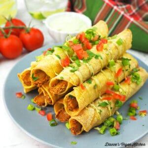 Vegan BBQ Chik'n Taquitos