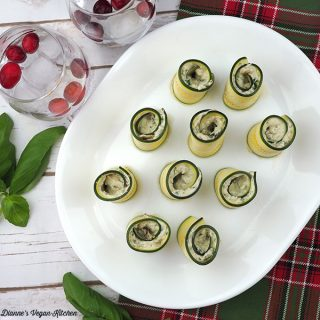Vegan Cheese & Zucchini Pinwheels square