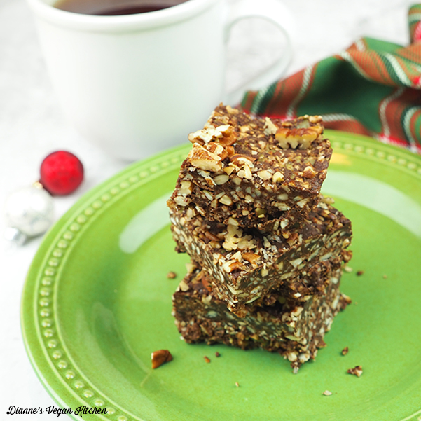 Chocolate-Gingersnap Fall Bars stacked square