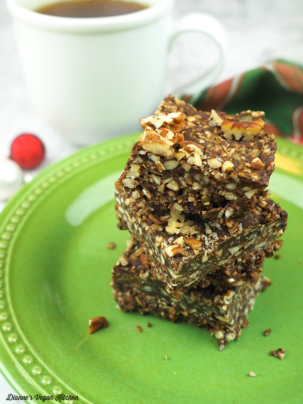 Chocolate-Gingersnap Fall Bars in a stack on plate