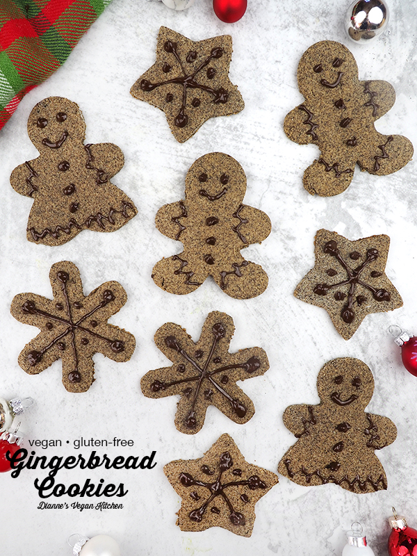 Gingerbread Cookies from Naturally Sweet Vegan Treats by Marisa Alvarsson are the perfect Christmas treat! These little sweets are terrific for gift giving and they're a great dessert for holiday parties and Christmas dinner, too.