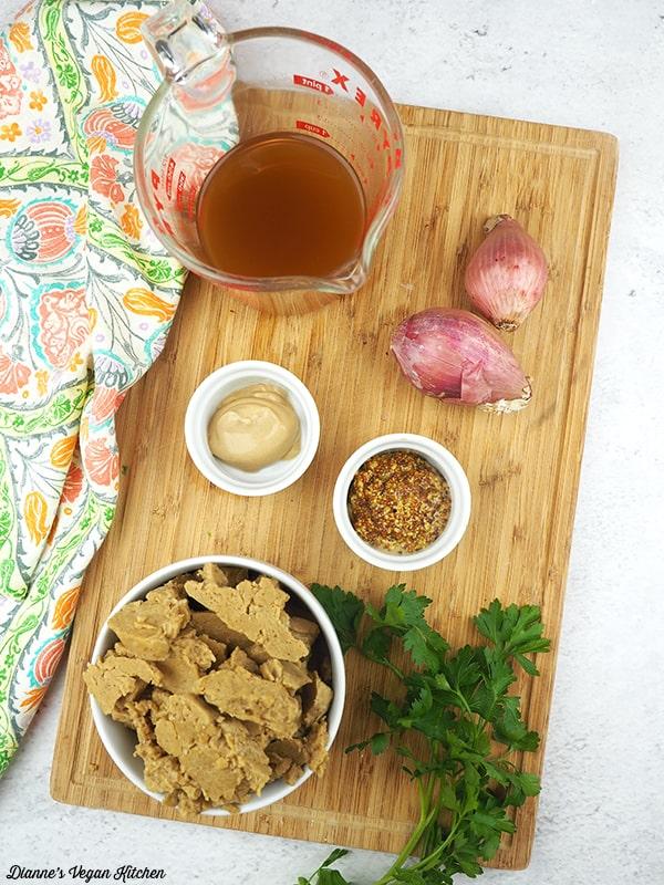 French Mustard Seitan Ingredients