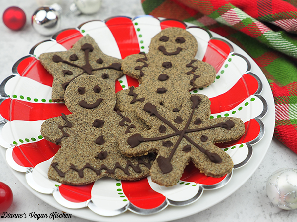 Gingerbread Cookies from Naturally Sweet Vegan Treats by Marisa Alvarsson on plate