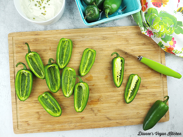cutting jalapeno peppers