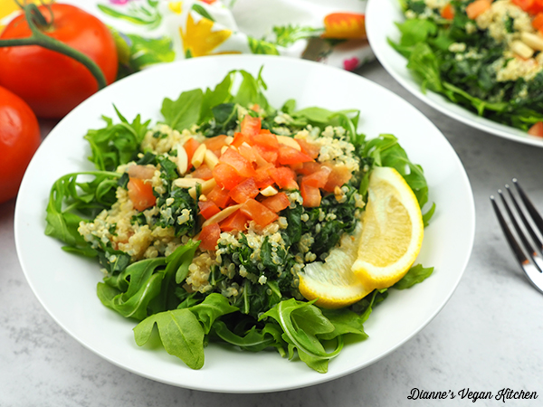 Quinoa and Kale Bowl close up horizontal