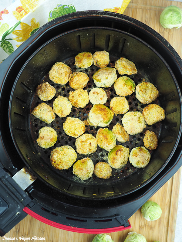 Cornmeal Crusted Brussels Sprouts in the air fryer