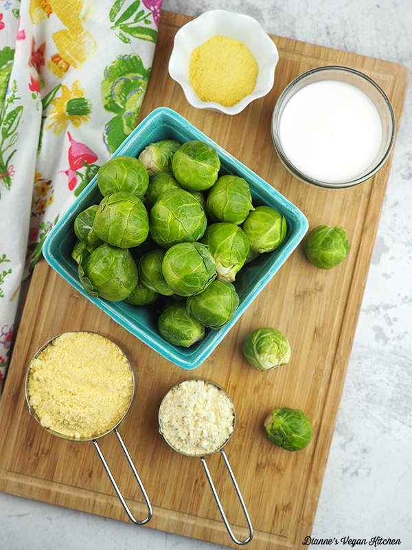 Cornmeal Crusted Brussels Sprouts ingredients