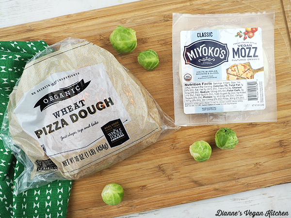 Pizza dough and Miyoko's Mozz