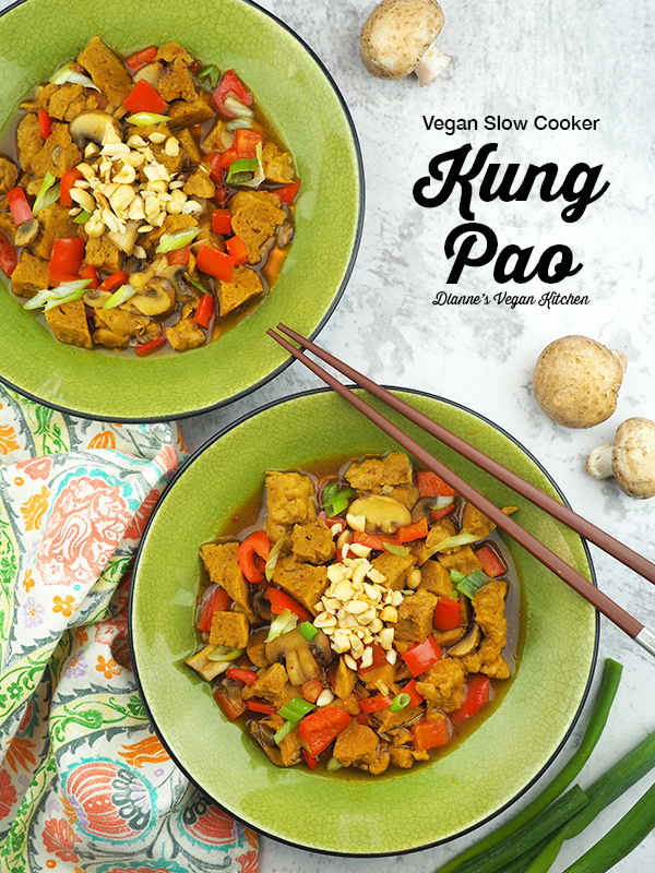 Spice things up with Kung Pao from The Vegan Slow Cooker by Kathy Hester. Place all of the ingredients in your slow cooker in the morning, and dinner will be ready when you get home from work in the evening! (Gluten-free and oil-free options
